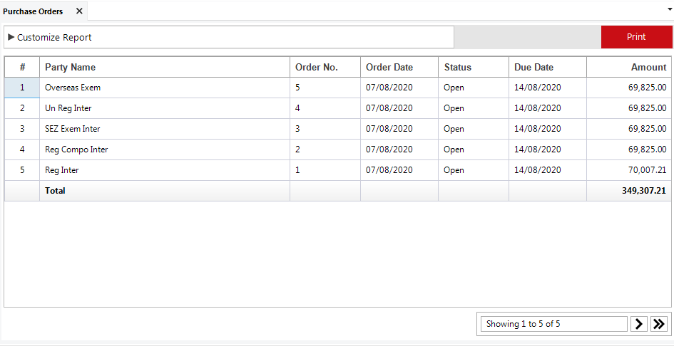 Purchase Order.