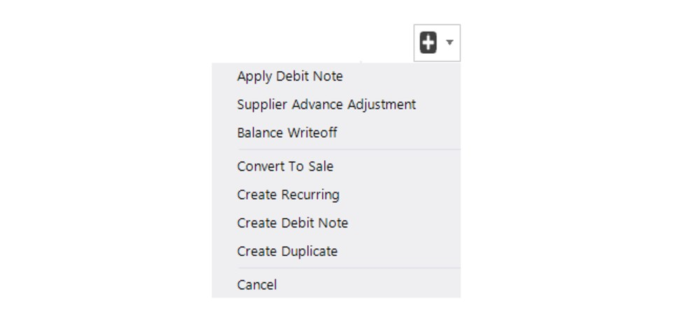 More Options In Purchase View